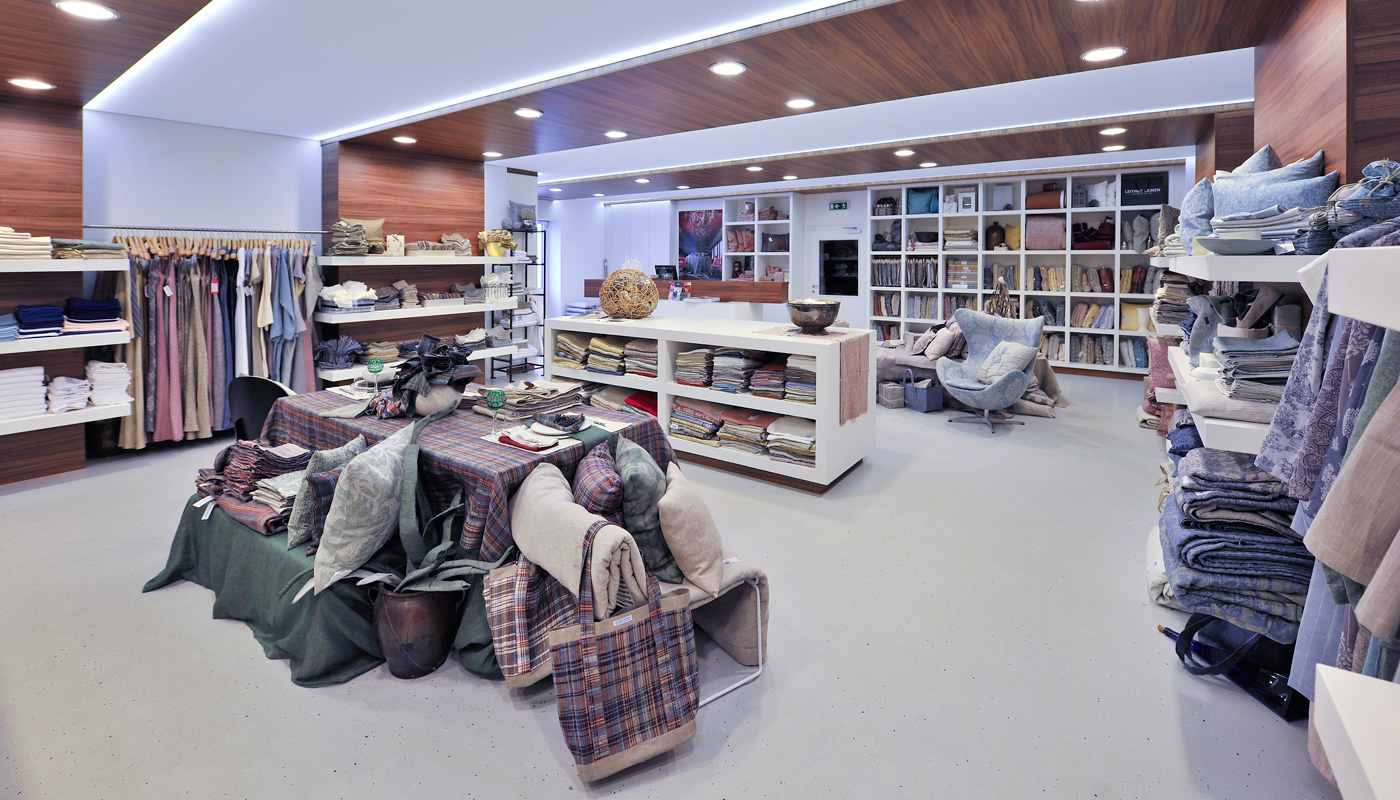 The LEITNER Leinen barrier-free home-store offers tours through the company's weaving and sewing facilities